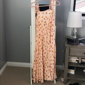 NWT a new day self tie citrus print dress, sz M